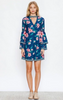 Demy Floral Bell Sleeve Dress