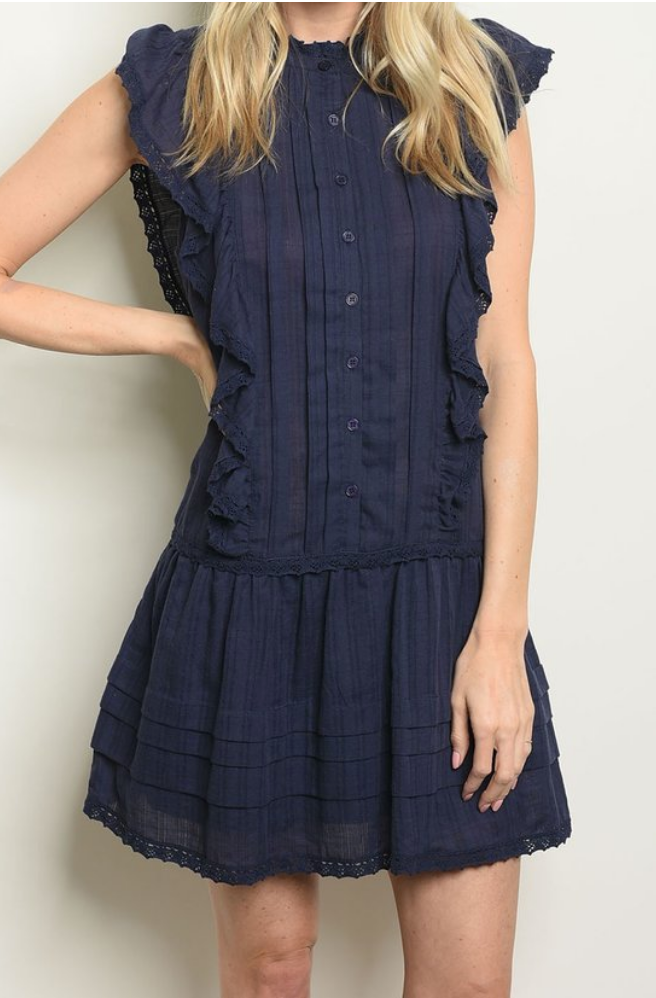 Julie Eyelet Day Dress