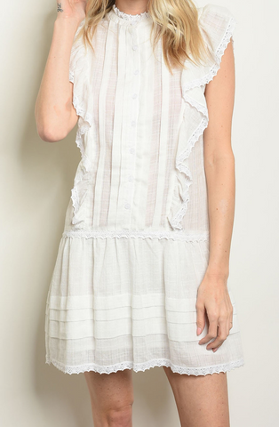 Amelia Eyelet Dress in Blush