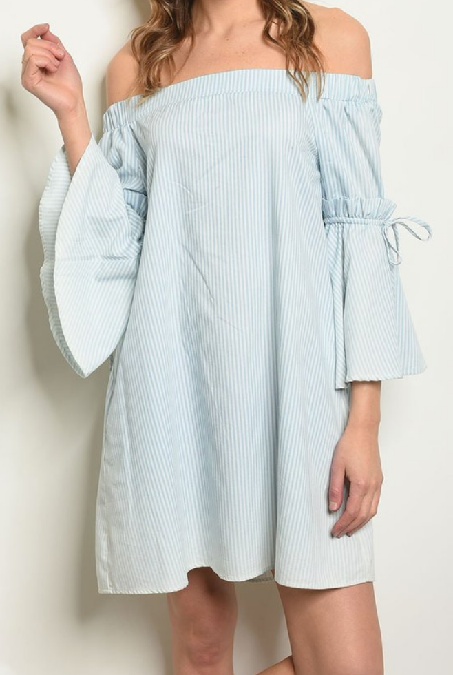 Leslie Bell Sleeve Stripe Dress