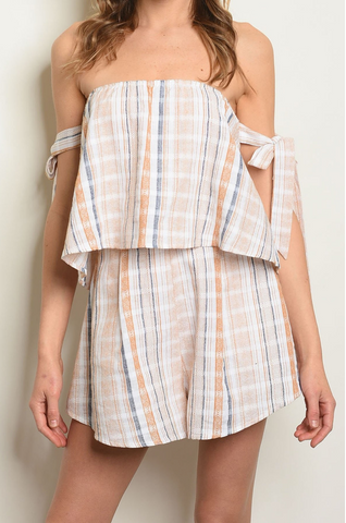 Bridget Stripe Wrap Dress