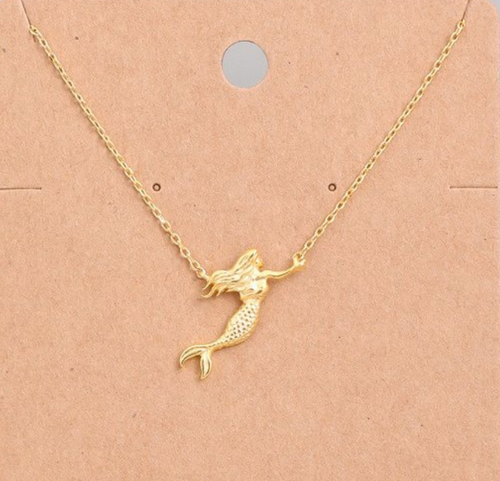 Mermaid Necklace Gold