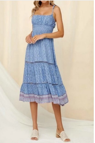 Antigua Smocked Striped Dress