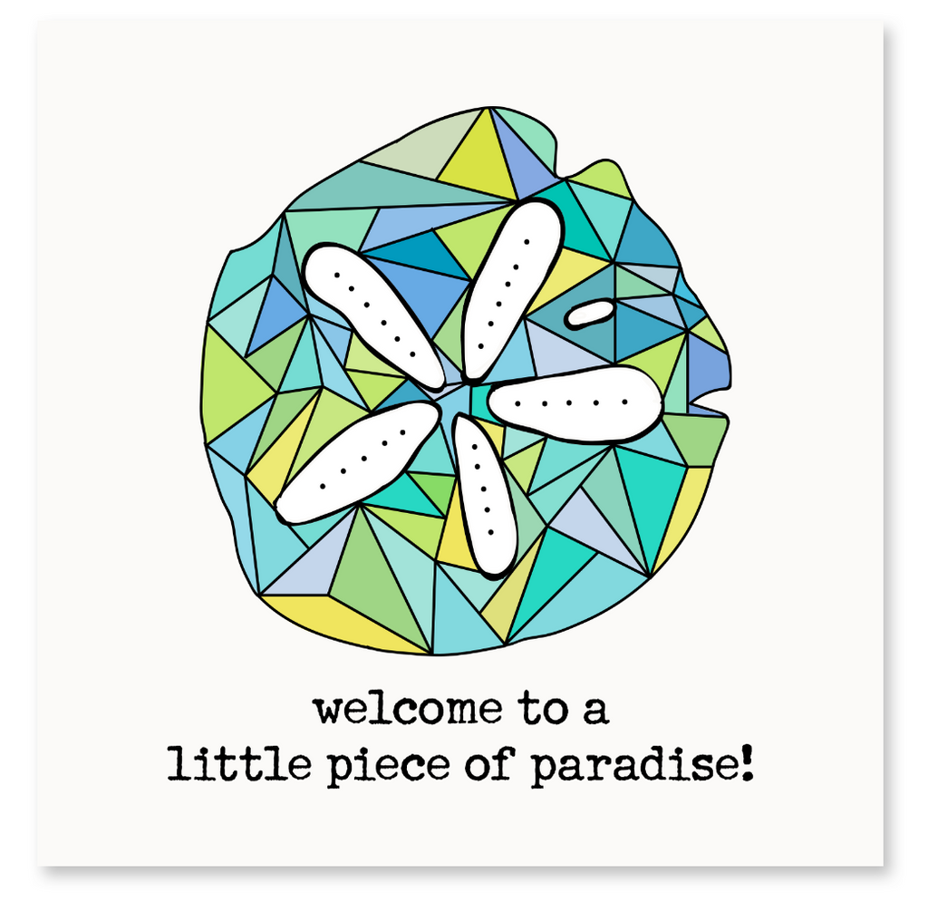WELCOME TO PARADISE CARD