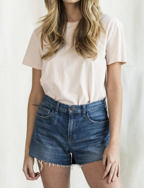 Abbie High Rise Denim Shorts