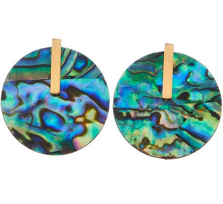 Shell Disc Earring