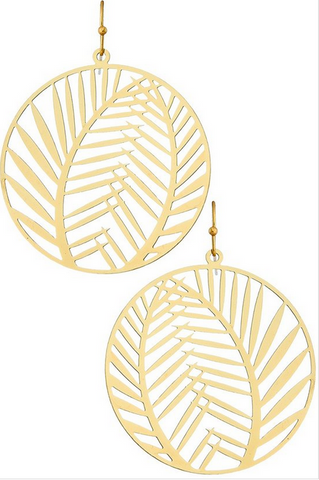 Palm Leaf Hoops