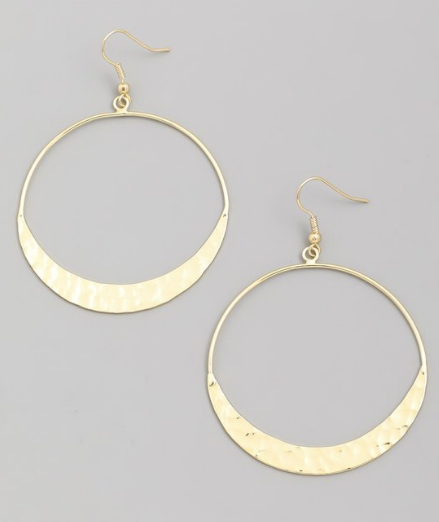 Golden Hammered Hoops