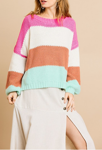Vanessa Color block Sweater
