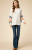 Kaye Rainbow Striped Sweater