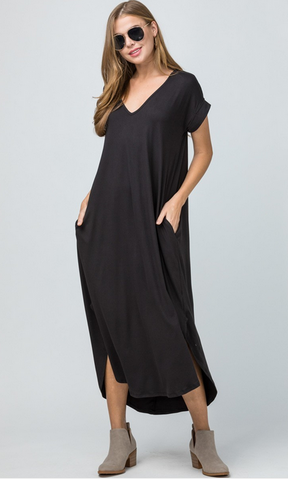 Short Sleeve Maxi T Shirt Dress