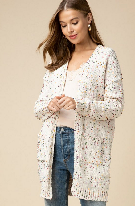 Hannah Multi Speckeled Cardigan