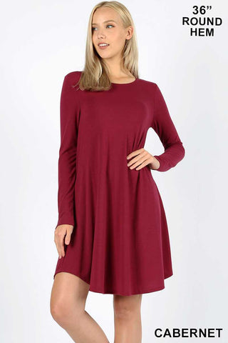 Sara Long Sleeve t shirt dress