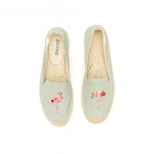 Flamingo Embroidered Smoking Slipper