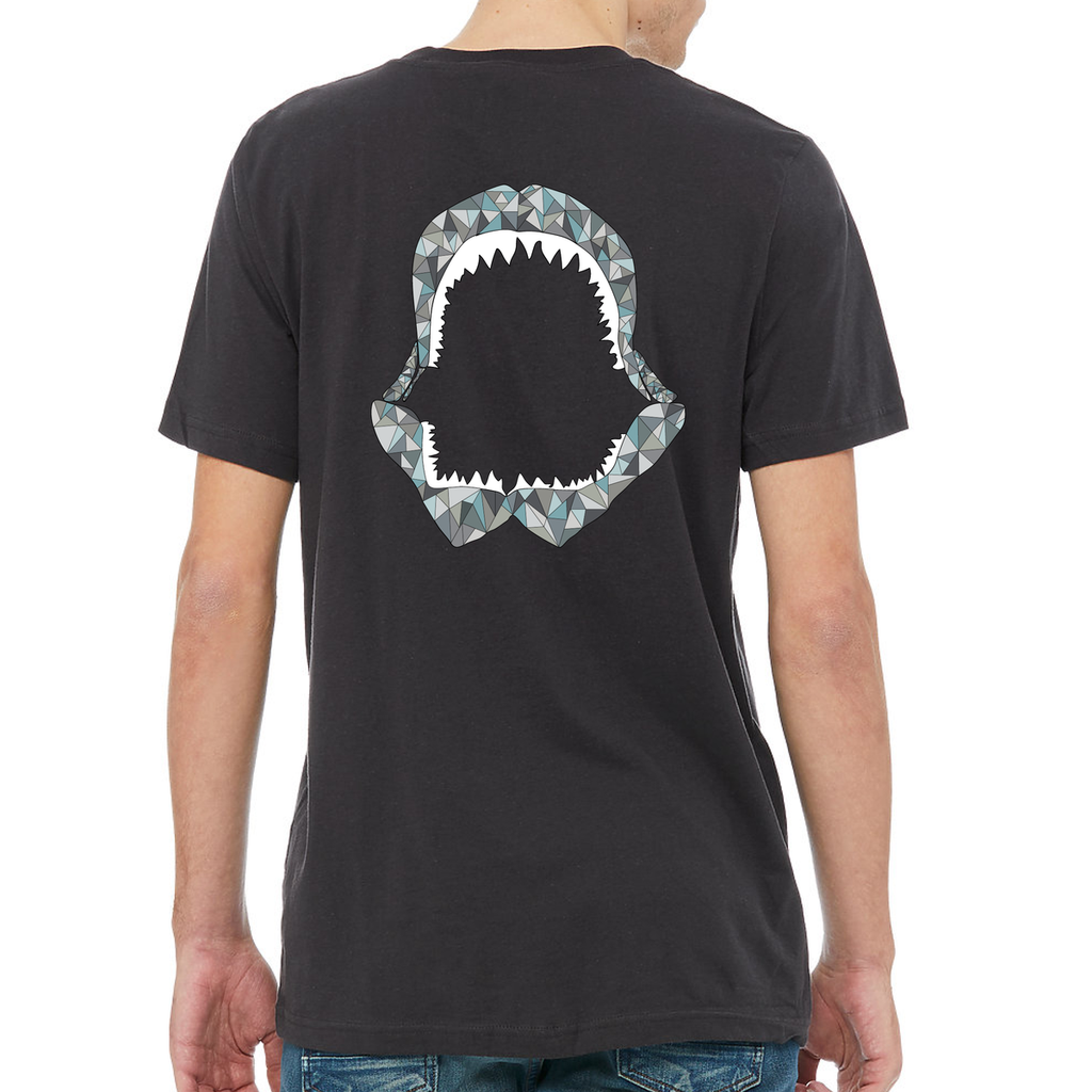 Tie-Blend Shark Tee in Dark Gray