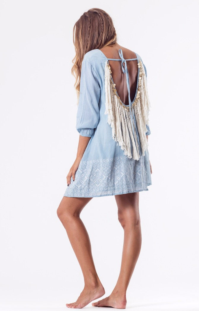 Indiana Gypsy Dress in Grey