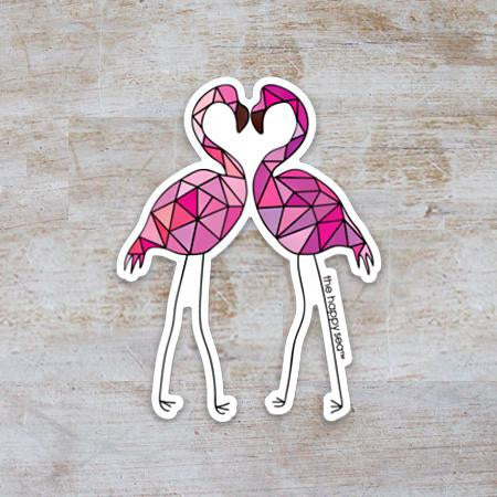 "3"" Flamingo Vinyl Sticker"