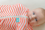 ergoCocoon Organic Zip-up Swaddle 0.2 Tog (Coral)