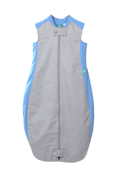 Organic Cotton & Bamboo Sleeping Bag: 1.0 Tog (Blue/Grey)