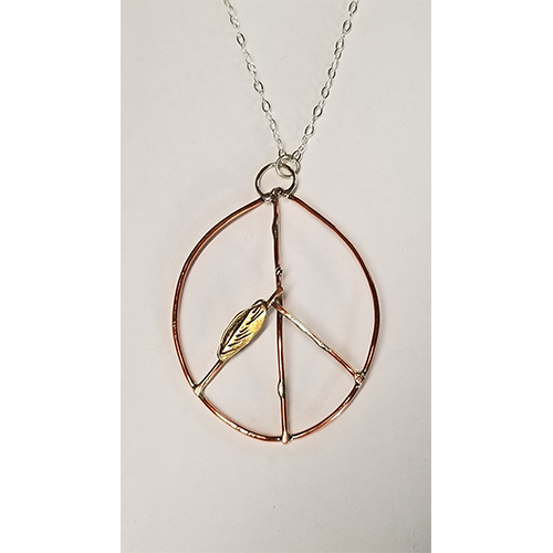 Rustic Peace necklace