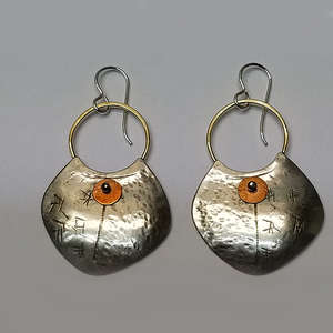 Sumerian Shield earrings
