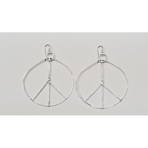 Power Peace Sign earrings