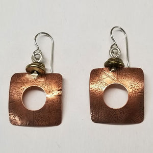 Geometric Clarity earrings