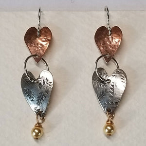 Hearts Together earrings