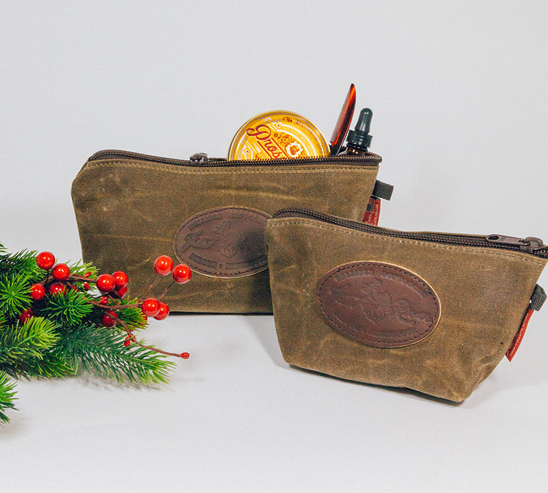 Made in USA Frost River Waxed Canvas Accessory Dopp Kits