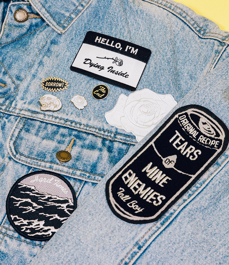 Lapel Pins and Iron-On Patches from Stuntin HQ and Inner Decay