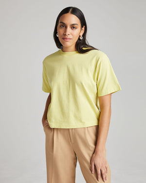 Women's Richer Poorer Relaxed SS Crop in Pale Green