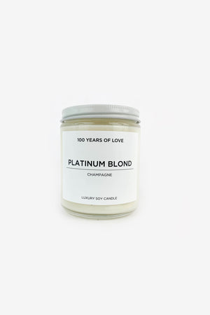 100 Years of Love Platinum Blond Candle