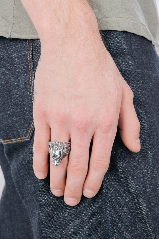 Men's Wolf Pack Signet Ring