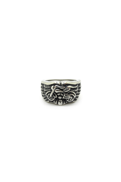 Men's Two Wheels to Freedom Signet Ring