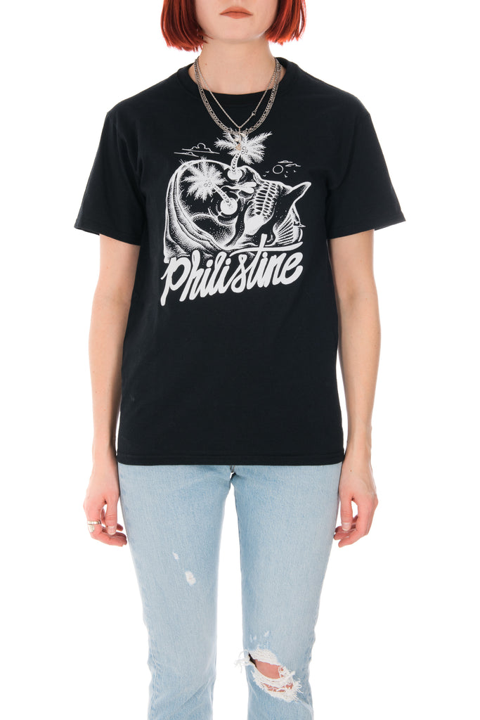 Philistine Palm Reaper Tee in Black