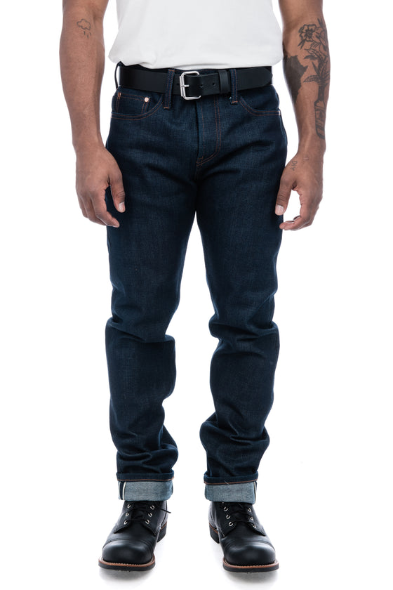 Men's Unbranded 21oz Tapered Fit Selvedge Denim in Indigo