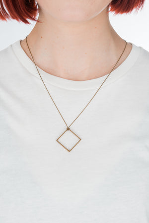 Brass Square Necklace - Philistine