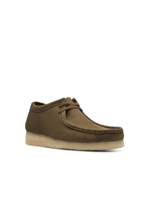 Men's Clarks Originals Wallabee in Dark Olive Nubuck