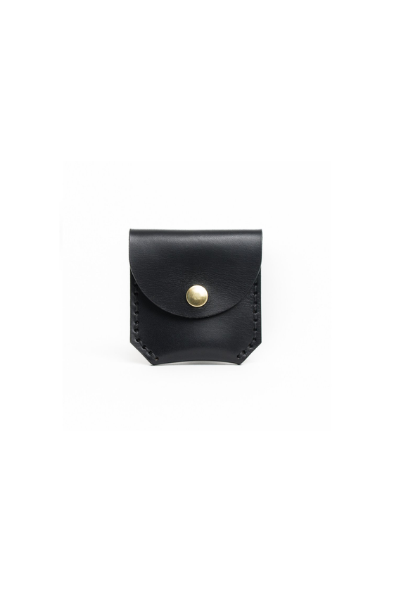 Made in Canada Black Leather Coin Wallet from Apogee Goods