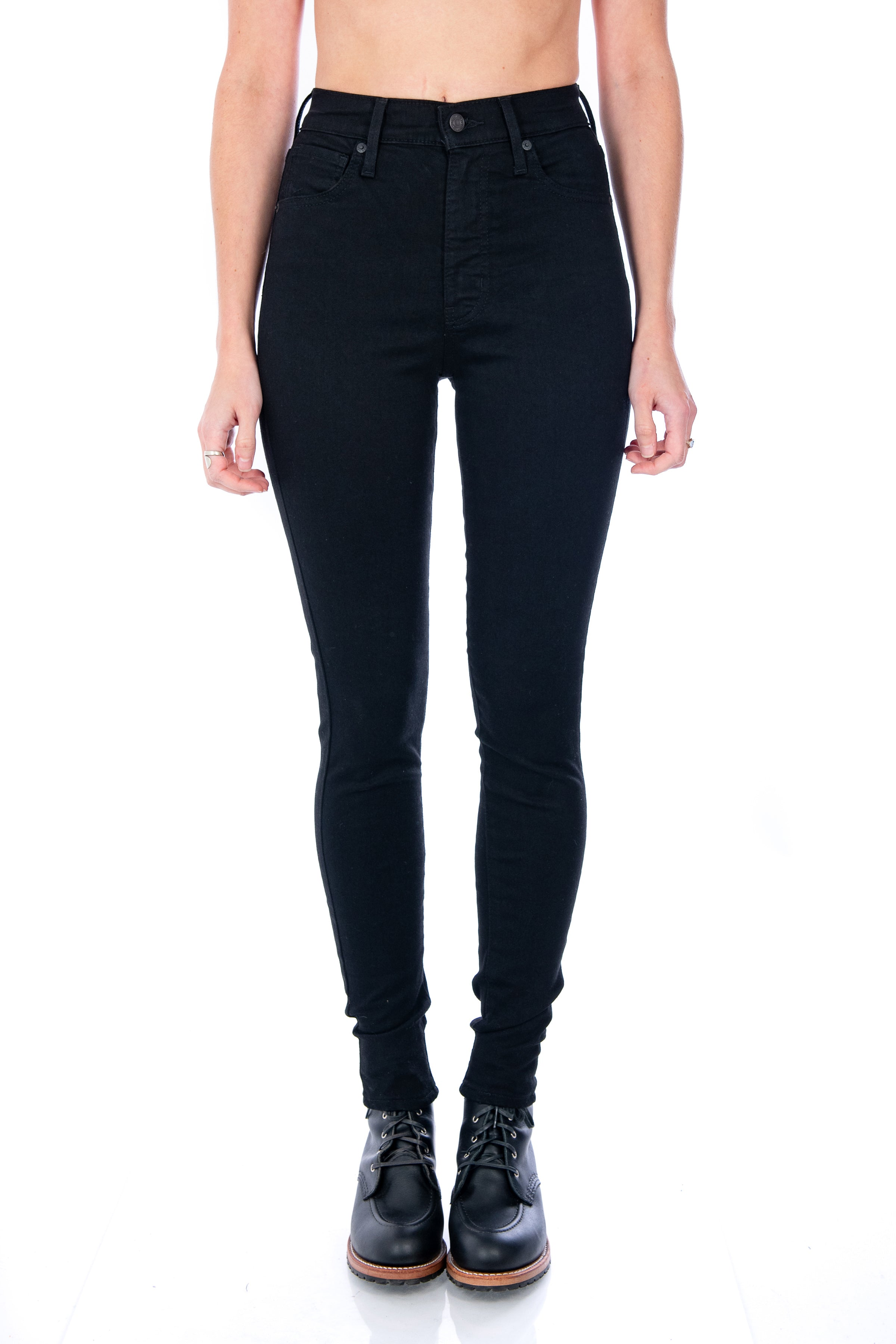 cbc815b9 Women's Levi's Mile High Super Skinny in Black Galaxy