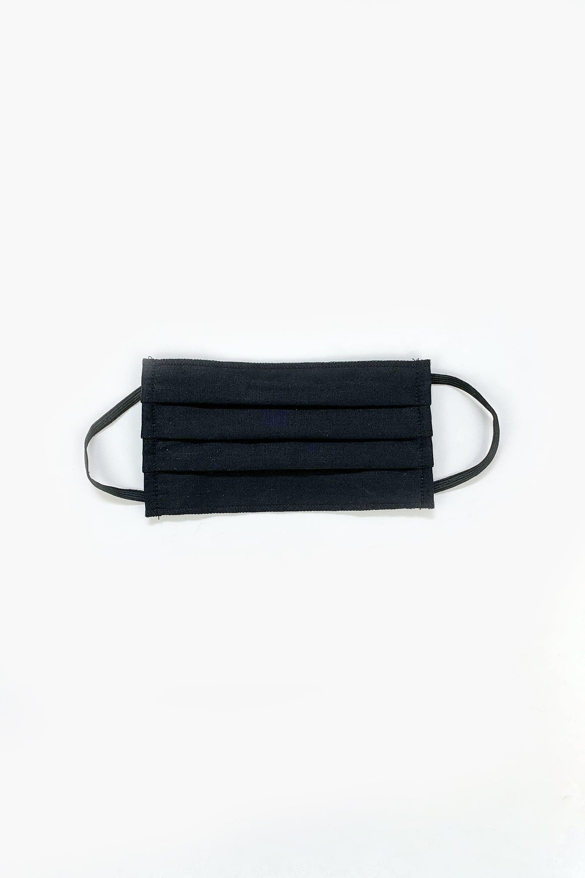 Pleated Face Mask in Classic Black