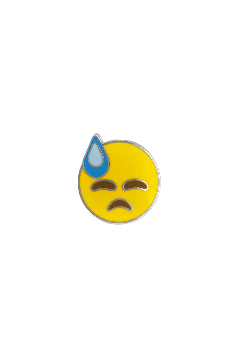 Cold Sweat Emoji Lapel Pin - Philistine