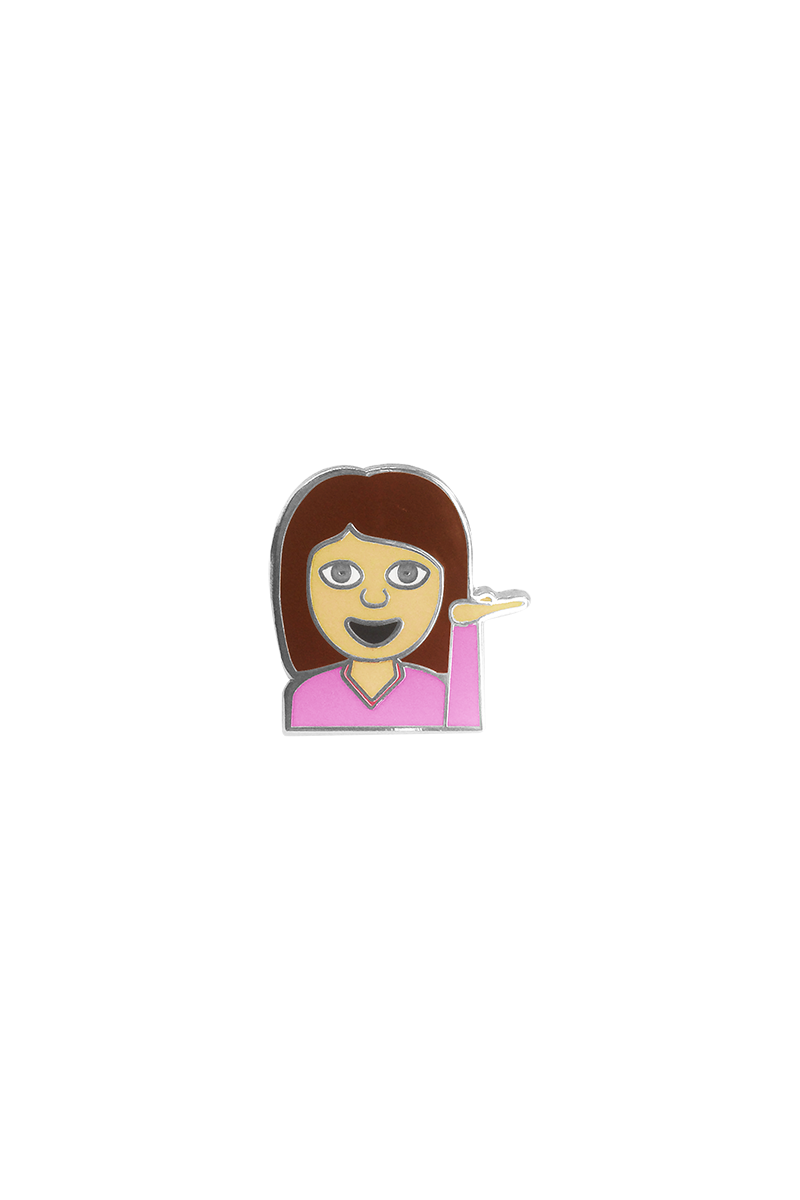 Hey Girl Emoji Lapel Pin - Philistine