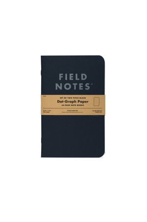 Pitch Black Notebook Dot Graph 2 Pack - Philistine