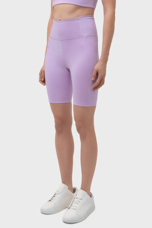 Women's Girlfriend Collective High Rise Bike Short in Lilac
