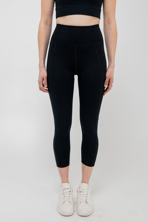 High Rise Classic Compressive Legging in Black - Philistine