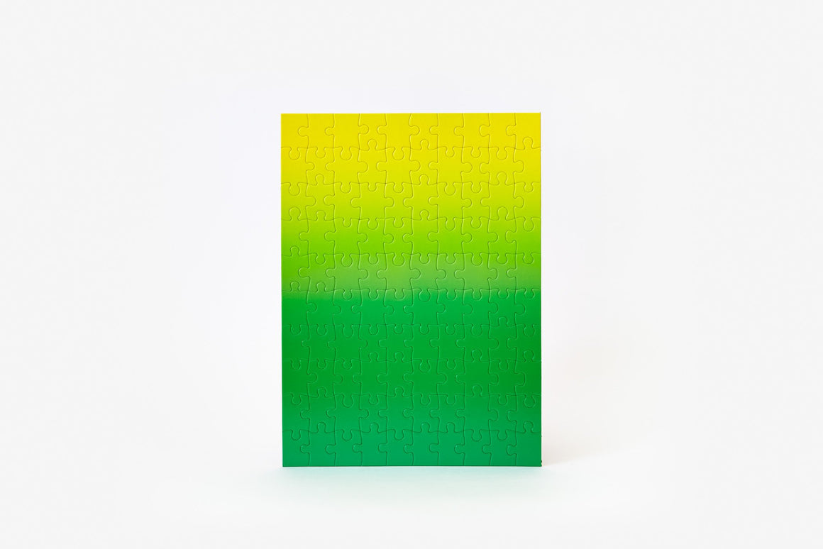 Gradient Puzzle in Green/Yellow - Philistine