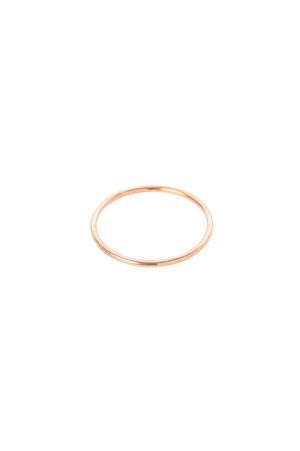 Smooth Thin Stacker in Rose Gold - Philistine