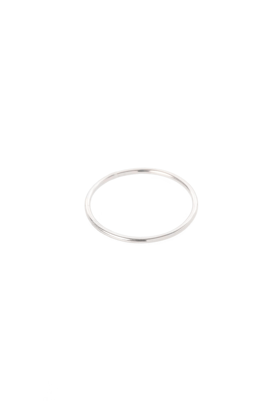 Women's Hannah Naomi Smooth Medium Stacker Ring in Silver