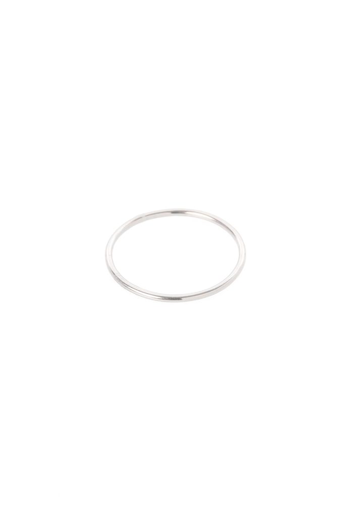 Women's Hannah Naomi Smooth Thin Stacker Ring in Silver